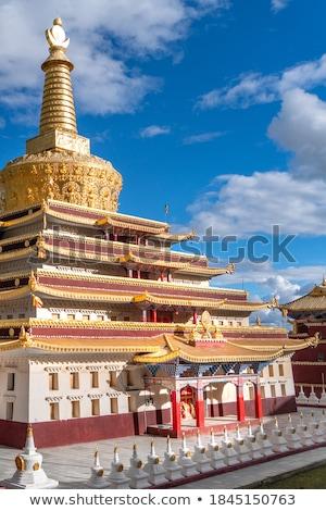 中国語 · 仏教 · 寺 · インテリア · サスペンション · 赤 - ストックフォト © bbbar