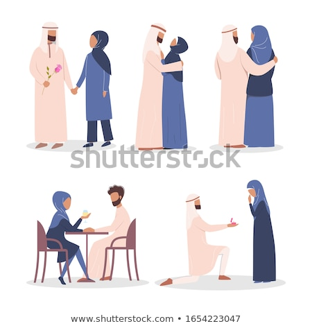 belo · jovem · feliz · muçulmano · mulher · hijab - foto stock © doddis