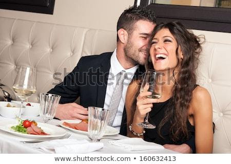 привлекательный смеясь пару ночной клуб роскошный улыбка Сток-фото © konradbak