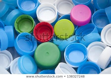 szín · műanyag · üvegek · csetepaté · kék · ipar - stock fotó © zeffss