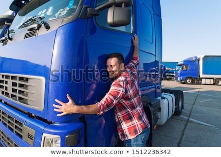 Szeretet teherautó kreatív valentin nap fotó papír Stock fotó © Fisher