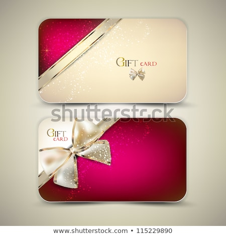 coleção · cartões · decorativo · dourado · ilustração · fundo - foto stock © fresh_5265954