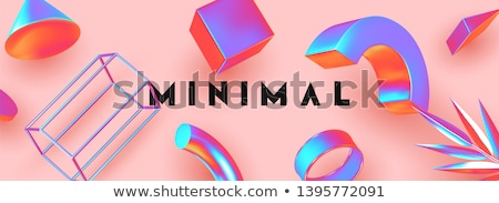 3D · affaires · cube · bleu · rouge · isolé - photo stock © dariusl