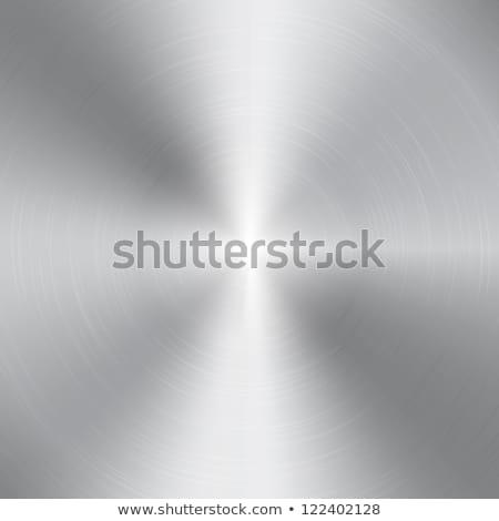 Cerchio metal cromo texture vettore abstract Foto d'archivio © SArts