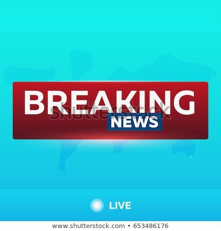 breaking · news · live · vector · Rood · tv · scherm - stockfoto © leo_edition