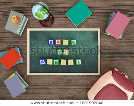 Block letters arranged on chalkboard Stock photo © wavebreak_media