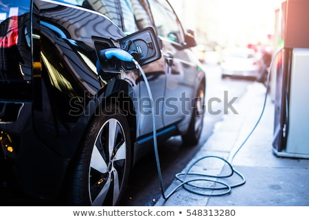 electric car charging station on a city stock photo © asturianu