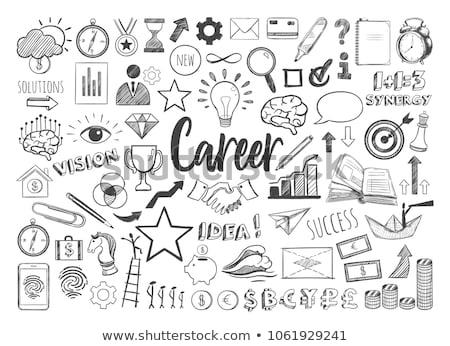 Teamwork Concept. Doodle Icons on Chalkboard. Stock photo © tashatuvango