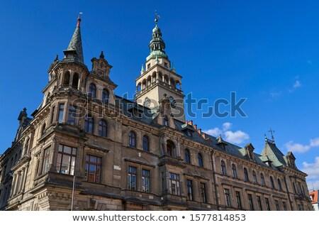 Stad hal Polen verlagen straat Blauw Stockfoto © benkrut
