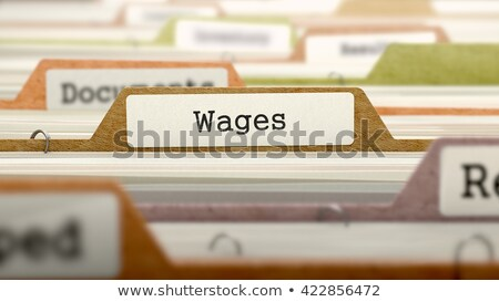 Card Index with Wages. 3D. Stock photo © tashatuvango