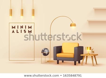 フレーム 壁 光 ランプ 3D レンダリング ストックフォト © user_11870380