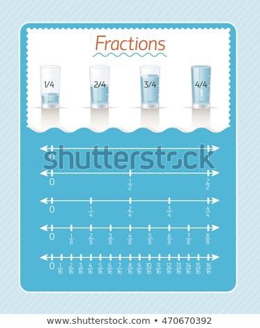 fractions  measuring  liquid.  Stock photo © Olena