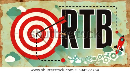 RTB on Grunge Poster in Flat Design. Stock photo © tashatuvango