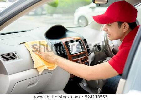 auto · dienst · personeel · schoonmaken · auto · interieur - stockfoto © wavebreak_media