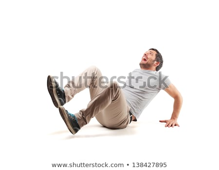 scared man isolated on white background stock photo © rogistok