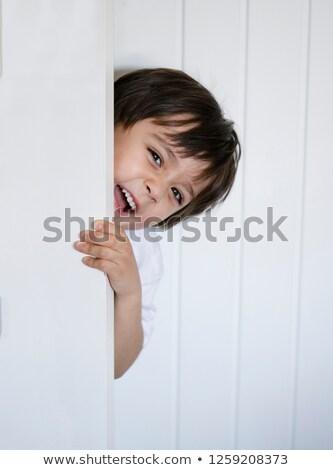 Gyerek fiú rejtőzködik szabadság illusztráció gyermek Stock fotó © lenm