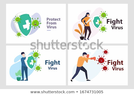 Cartoon Virus Character Stock photo © Lightsource
