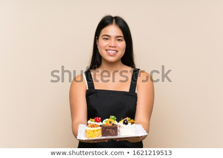 Creme bolo adolescente sorridente Foto stock © monkey_business