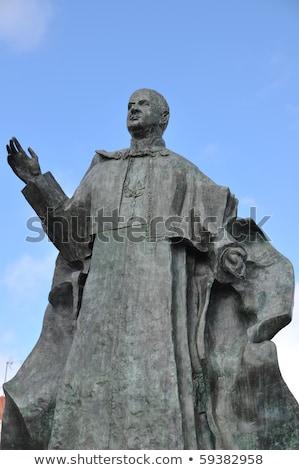 Pápa bronz szobor kék hit vallásos Stock fotó © luissantos84