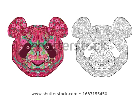 digital color vector detailed line art ornamented stock photo © frimufilms