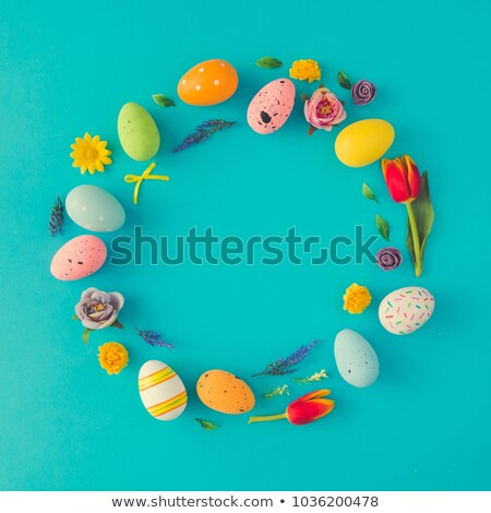 easter egg wreath decoration stock photo © franky242