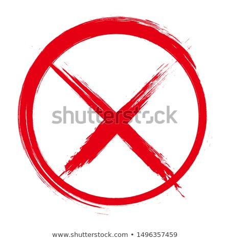 A red stamp on a white background - Banned Stock photo © Zerbor