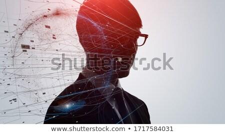 глубокий · мысли · вертикальный · выстрел · женщину · рабочих - Сток-фото © lightsource