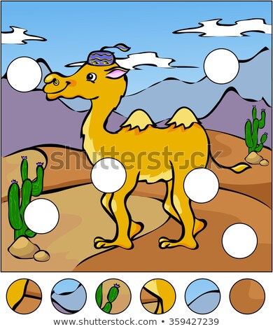 Kids cartoon cactus Find the Missing Piece Puzzle Stock photo © adrian_n