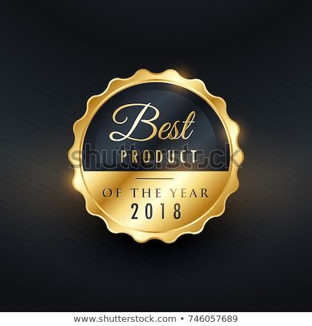 best product of the year golden label design stock photo © sarts