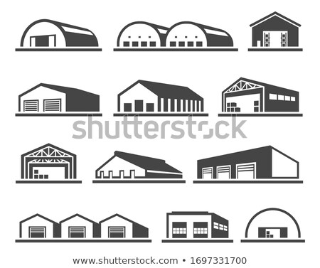 Freight warehouse facade isolated icon Stock photo © studioworkstock