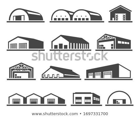 Raktár homlokzat izolált ikon üzlet ingatlan Stock fotó © studioworkstock