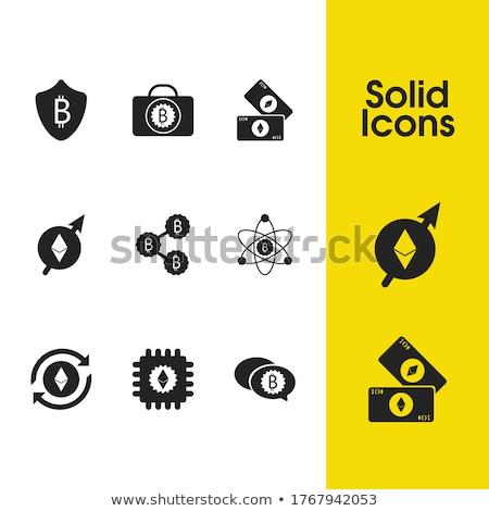 Zümrüt para sikke simge grafik vektör Stok fotoğraf © tashatuvango
