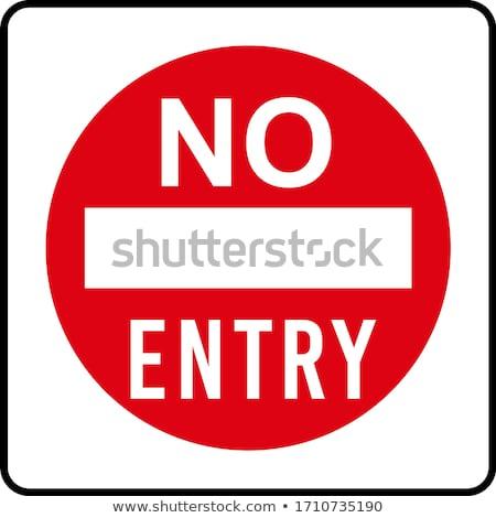 Nem megengedett felirat vonal terv izolált Stock fotó © Decorwithme