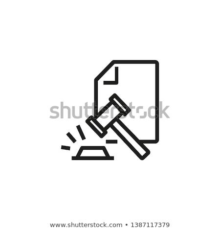 Hukuk sipariş vektör ikon dizayn renk Stok fotoğraf © rizwanali3d
