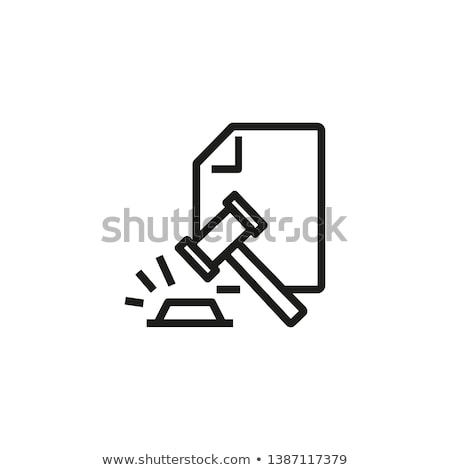 juge · marteau · icône · gris · succès · avocat - photo stock © rizwanali3d