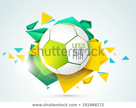Elegancki błyszczący sportowe świat piłka nożna Zdjęcia stock © SArts