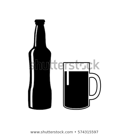 beer in mug and bottle on black stock photo © givaga