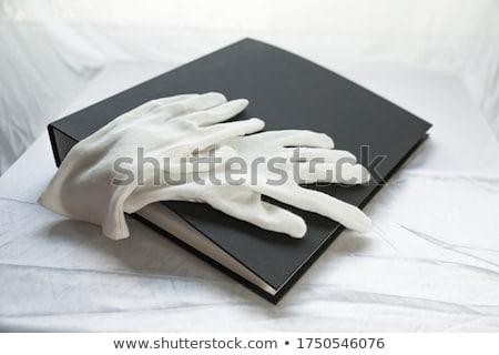 cotone · guanti · nuovo · isolato · bianco · giardino - foto d'archivio © scenery1