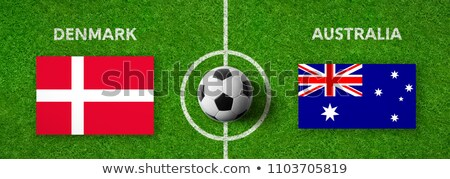 Futebol combinar Dinamarca vs Austrália futebol Foto stock © Zerbor