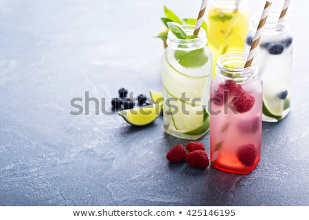 detox fruit infused flavored water stock photo © lana_m