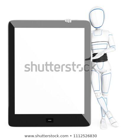 3D humanoide robot enorme tableta Foto stock © texelart
