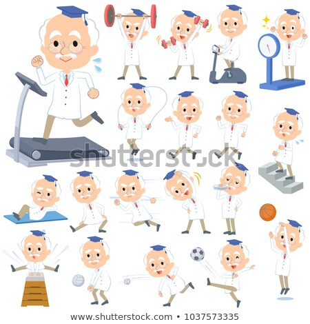 Research Doctor old men_Sports & exercise Stock photo © toyotoyo