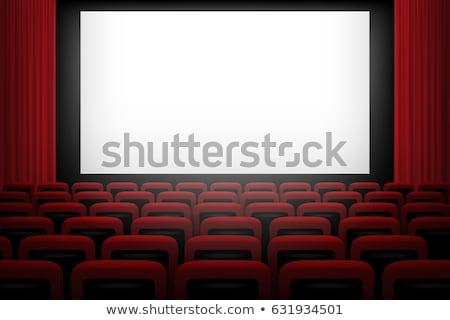 Film teatro rosso bianco schermo Foto d'archivio © Andrei_