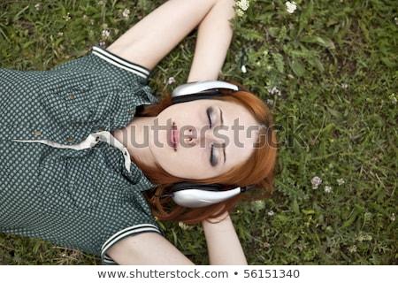 foto · jonge · schoonheid · gras · bos - stockfoto © massonforstock