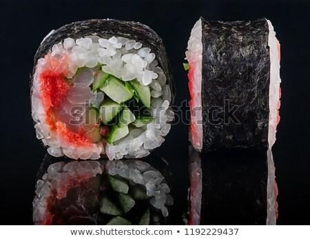 Egyenes zsemle fűszeres fekete tükröződés japán Stock fotó © Cipariss