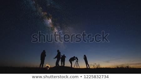 llamas · hoguera · noche · fuego · madera · resumen - foto stock © solarseven