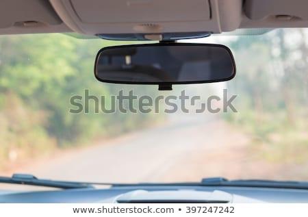 espelho · cara · mulher · jovem · condução · isolado - foto stock © andreypopov