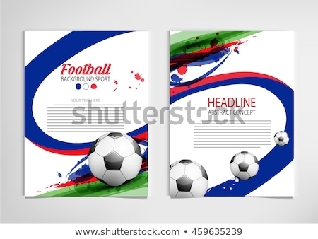 Russia Football Cup Poster Tricolor Flag Vector stock photo © robuart
