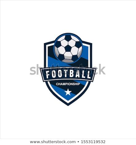ベクトル サッカー セット レトロな サッカー バッジ ストックフォト © morys