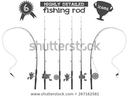 Fishing Sport Equipment, Tackle and Tools Icon Stock photo © robuart